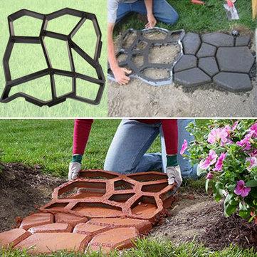 Ogródek DIY Plastikowa kostka Maker Mold ręcznie chodnikowe dziedzińcu kamień drogowy Cement Brick Mold narzędzia pomocnicze