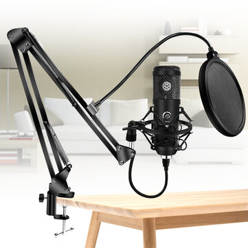 Bakeey Upgraded Usb E20 Condenser Computer Microphone With Ring Light Studio Kit With Arm Stand For Gaming Youtube Video Record Coupon Code and price! - $26