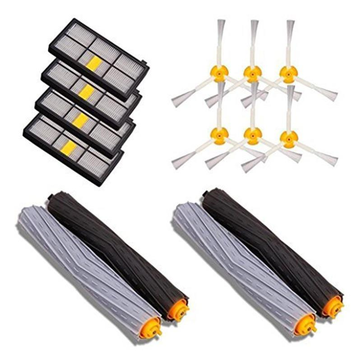 4pcs Filter 6pcs Side Brush 4pcs Main Brush Vacuum Cleaner Parts 14PCS Accessories iRobot Roomba 880 860 870 871 Vacuum Cleaner