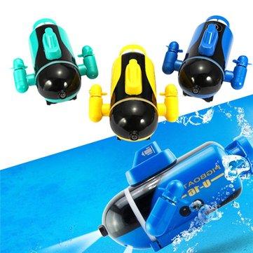 Mini Micro Radio Remote Control RC Sub Boat Racing Submarine Explorer Toys Gift