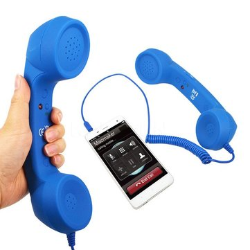 3.5mm Retro Phone Handset Specifically Noise Reduction Prevention Radiation Syetem On The Mobile Phone Receiver Headphone Microphone