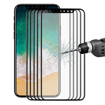 5 Packs Bakeey 3D Soft Edge Carbon Fiber Tempered Glass Screen Protector Film For iPhone XS/X
