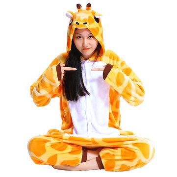 Fall Winter Mengshufen Flannel Animal Cartoon Hips With Zipper Jumpsuits Pajamas Sleepwear