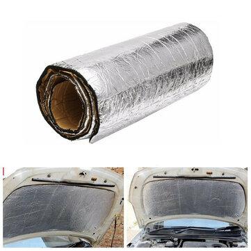 100cmx50cm Car Sound Proofing Deadening Anti-noise Insulation Heat Glass Fiber Cotton