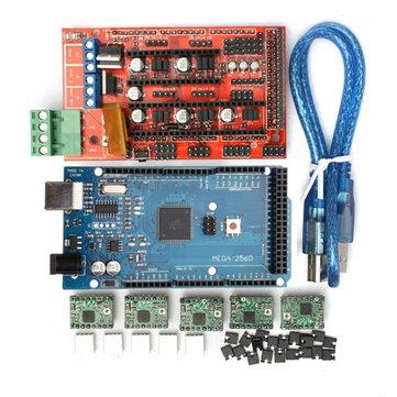 Geekcreit® RAMPS 1.4 Control Board  + MEGA2560 R3 + A4988 Driver With Heat Sink 3D Printer Mainboard Kit