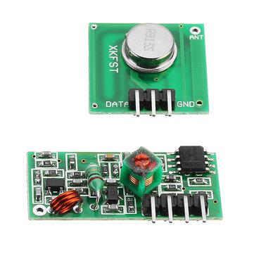 5 Pcs 433 MHz Wireless RF Transmitter dan Receiver Modul Kit Geekcreit untuk Arduino - produk yang bekerja dengan papan Arduino resmi