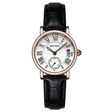 SANDA P206 Da Nữ Phong cách Thời trang Lady Dress Quartz Watch