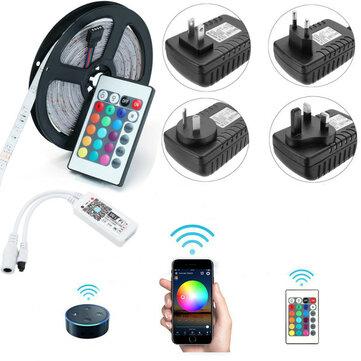 Bộ điều khiển WIFI thông minh 5M SMD2835 Alexa Điều khiển APP Không chống nước Dải LED RGB không thấm nước
