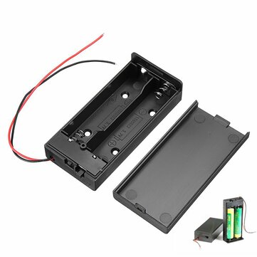 18650 Battery Box Rechargeable Battery Holder Board with Switch for 2x18650 Batteries DIY kit Case