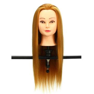 30% Golden Real Hair Hair Salon Mannequin Training Head Models Haircut Hairdressing
