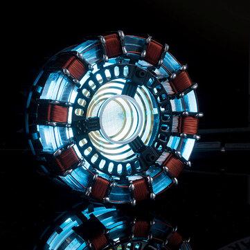 MK1 Acrílico Tony DIY Arc Reactor Lâmpada Arcylic Kit Iluminante LED Flash Set de Luz