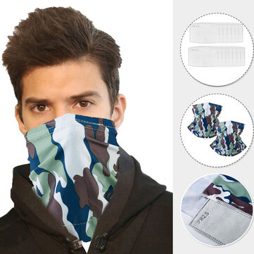 Half Face Mouth Mask Scarf with Filters Protect Neck Anti Dust Sun UV Wind