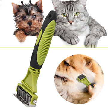 Pet Dog Cat Hair Trimmer Grooming Clipper Hair Remover Brush Flea Comb Rake