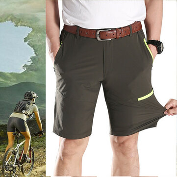 Large Size L-5XL High Elastic Outdooors Quick Drying Pants Men's Casual Knee-length Shorts