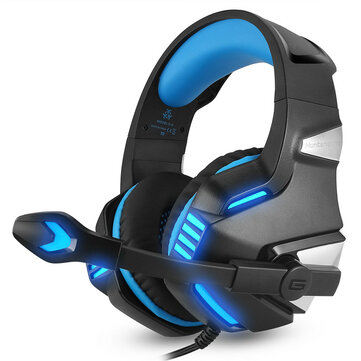 Hunterspider V3 3.5mm Wired LED Gaming Headphone Noise Cancelling With Mic For Laptop PS4 Xbox One