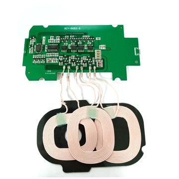 Bakeey 3 Coils DIY Materiaal Qi Draadloze oplader PCBA Launch Board 5V 2A voor smartphones