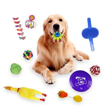 18pcs Perros muelen sus dientes y juguetes de mordedura Resistencia a los juguetes de mordedura Juguetes para mascotas