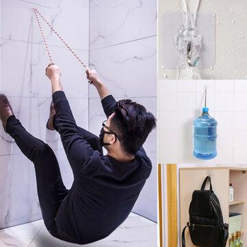 Honana HN-31 6PCs Strong Transparent Sticky Wall Hooks Hanger for Kitchen Bathroom Holder Accessories Wall Storage Hangers