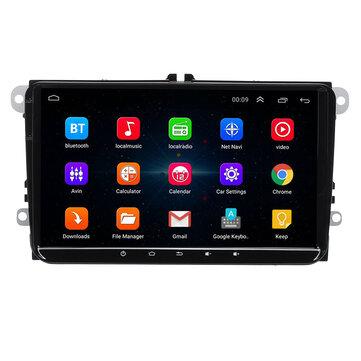 9 Pollici per Android 8.1 Car Stereo Radio Lettore MP5 1 + 16G Quad Core Touch screen bluetooth DVR WIFI per VW