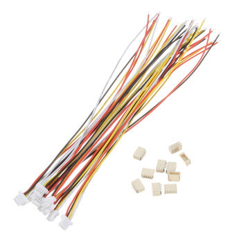 Excellway® 20Pcs Mini Micro JST 1.0mm SH 4-Pin Connector Plug With Wires Cables 150mm