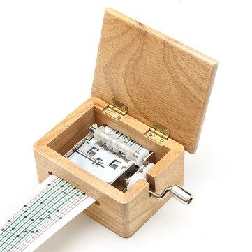 15 Tone DIY Handvevrad musiklåda trälåda med hålpuncher och papperstejp