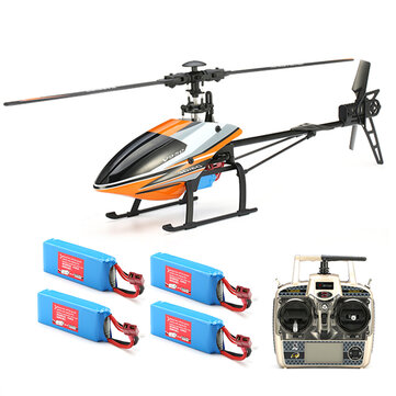 $149.59 for WLtoys V950 2.4G 6CH Brushless RC Helicopter RTF With 4PCS Lipo Battery