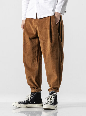 Men's New Fashion Casual Corduroy Harem Pants