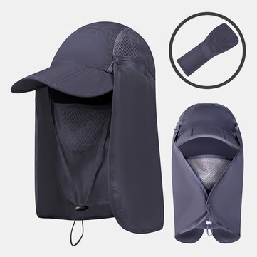 Foldable Sun Protection Cover Face Visor Outdoor Fishing Hat Summer Quick-drying Cap Breathable Hat Baseball Cap for sale in Bitcoin, Litecoin, Ethereum, Bitcoin Cash with the best price and Free Shipping on Gipsybee.com