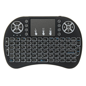 3dd76480664 I8 Three Color Backlit Arabic Version 2.4G Wireless Mini Keyboard Touchpad  Air Mouse
