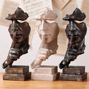 Modern Harts Figur Staty Abstrakt Skulptur Konsthantverk Ornament Hem Office Decorations