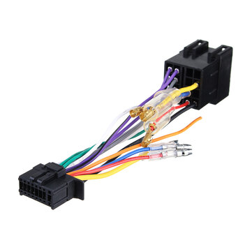 wiring harness connector ends 16pin car stereo radio wiring harness connector plug iso pi100 for  16pin car stereo radio wiring harness