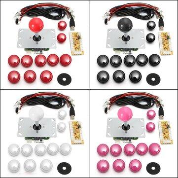 Spel DIY Arcade Set Kits Byte Delar USB Encoder Till PC Joystick och Knappar