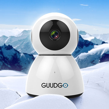 GUUDGO GD-SC03 Snowman 1080P Cloud WIFI IP Camera Pan&Tilt IR-Cut Night Vision Two-way Audio M otion Detection Alarm Camera Monitor Support Amazon-AWS[Amazon Web Services] Cloud Storage Service