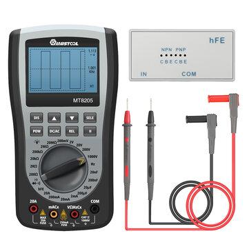 MUSTOOL MT8205 2 in 1 Digital Intelligent Handheld Storage Oscilloscope Multimeter AC/DC Current Voltage Resistance Frequency Diode Tester