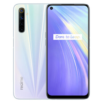 Realme 6 Global Version 6.5 inch FHD+ 90Hz Refresh Rate NFC Android 10 4300mA 64MP AI Quad Camera 8GB 128GB Helio G90T 4G Smartphone