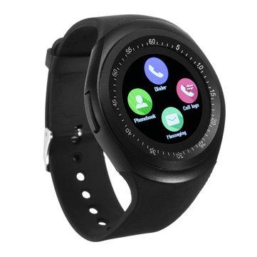 Y1 Smart Bluetooth3.0 Watch Phone Banda SIM Card Touch Screen Bracciale sportivo