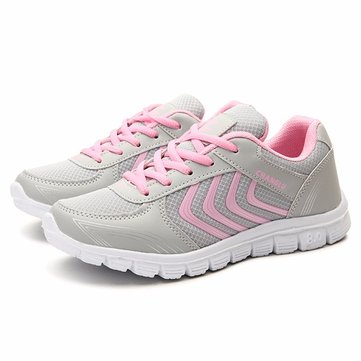 New Women Sport Shoes Casual Athletic Flats Comfortable Running Outdoor Lace Up Shoes