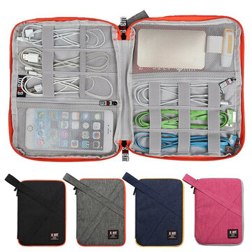 BUBM Outdoor Large Single Layer Waterproof Earphone Cable Power Bank Storage Bag Collection Pouch
