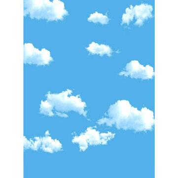 5x7FT Sky Blue Cloud Backdrop Photography Prop Photo Background