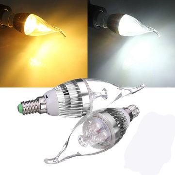 E14 3W Dimmerabile 300-330LM LED Lampadario Candela Lampadina 220V