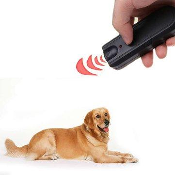 Garden LED Ultrasonic Animal Repeller Dog Training Device Pet Anti Barking Stop Bark Trainer