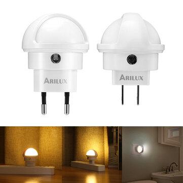 ARILUX® 360 Degree Rotation Smart Light Sensor LED Plug-in Wall Night Lamp for Bedroom