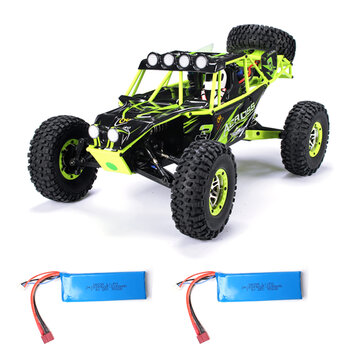 WLtoys 10428 1/10 2.4G 4WD RC Truck Crawler RC Car Two Battery