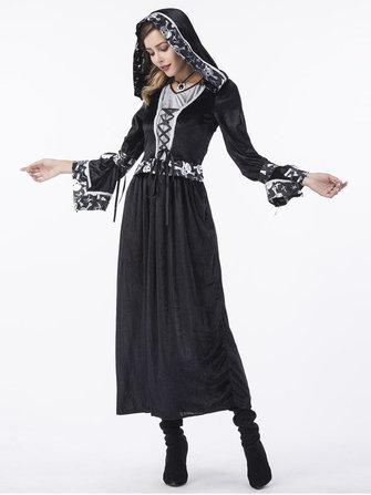 Phụ nữ Trang phục Halloween Death Wizard Trang phục phù thủy Cosplay Trang phục Halloween