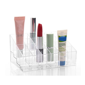 24 помада дисплей держатель стенд прозрачный акрил организатор макияж прочие прозрачные коробки Storge