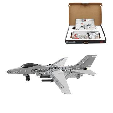 Mô hình câu đố kim loại 3D MoFun Xây dựng máy bay chiến đấu bằng thép không gỉ