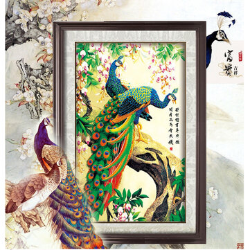 5D DIY Diamond Painting Embroidery Anmial Peacock Cross Stitch Decorations Landscape Diamond Mosaic Rhinestones Home Decor