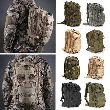 IPRee® 30L Outdoor Tactical Backpack 600D Nylon Waterproof Camouflage Trekking Rucksack