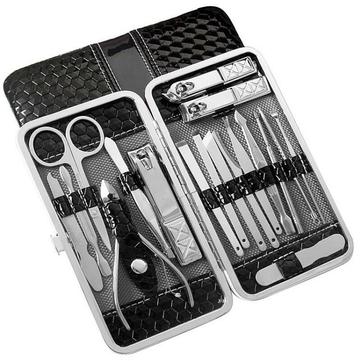 YFM® 18ks Nerezové ořezávátko na nehty Blackhead Extraktor Pinzeta Nůžky Nástroje na manikúru