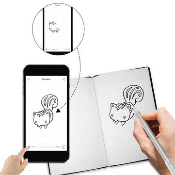 Buy NEWYES 4P100B Cloud Pen Smart Writing Set Notebook Electronic Notepad Paper Screen Synchronous Pen Business Meeting Writing Table with Litecoins with Free Shipping on Gipsybee.com